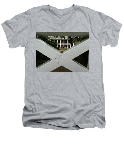 Shadows X On The Teche  Men's V-Neck T-Shirt by Rdr Creative