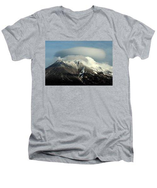 Shasta Lenticular 2 Men's V-Neck T-Shirt by Holly Ethan