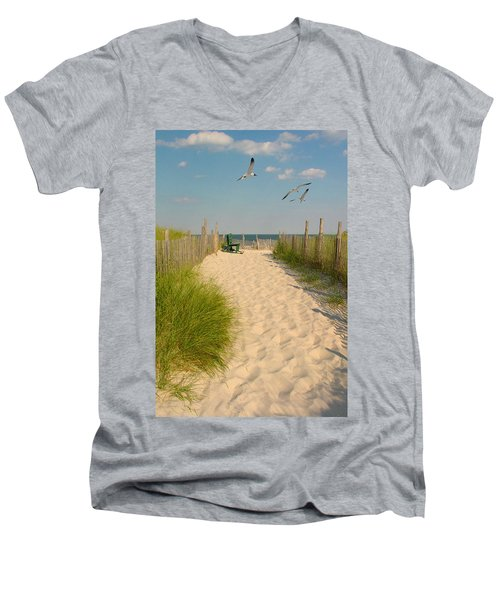 Shore Is Beautiful Men's V-Neck T-Shirt