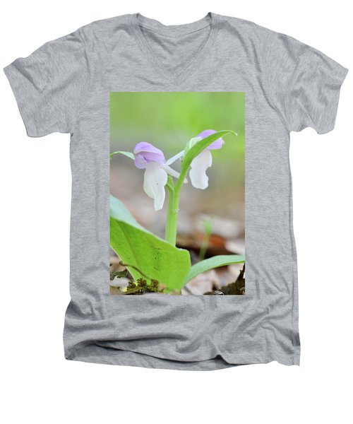 Showy Orchis Men's V-Neck T-Shirt