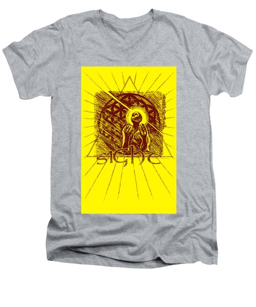 Sight Men's V-Neck T-Shirt by Tony Koehl