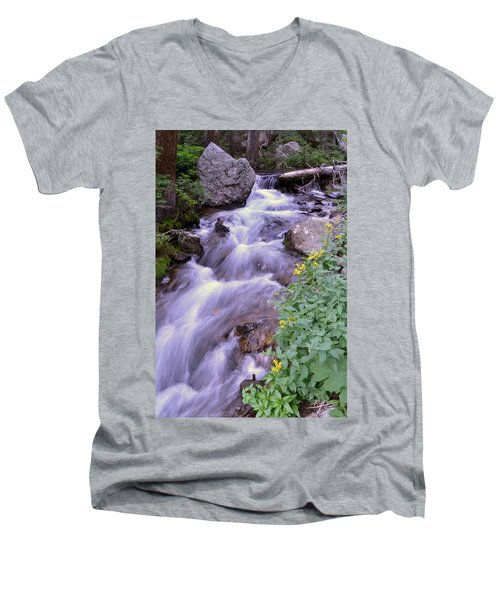 Silky Stream Men's V-Neck T-Shirt