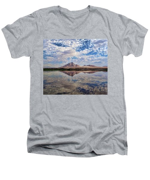 Men's V-Neck T-Shirt featuring the photograph Skies Illusion by Tammy Espino