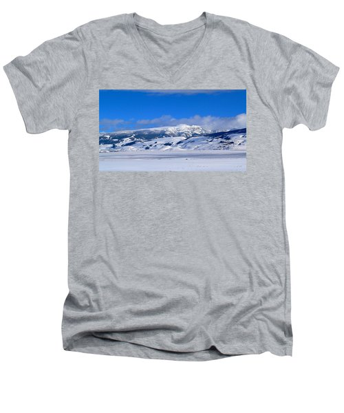 Men's V-Neck T-Shirt featuring the photograph Sleeping Indian by Eric Tressler