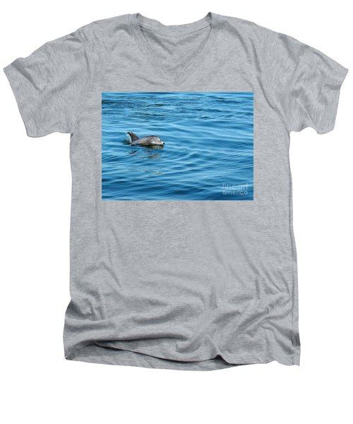 Men's V-Neck T-Shirt featuring the photograph Smile by Sami Martin