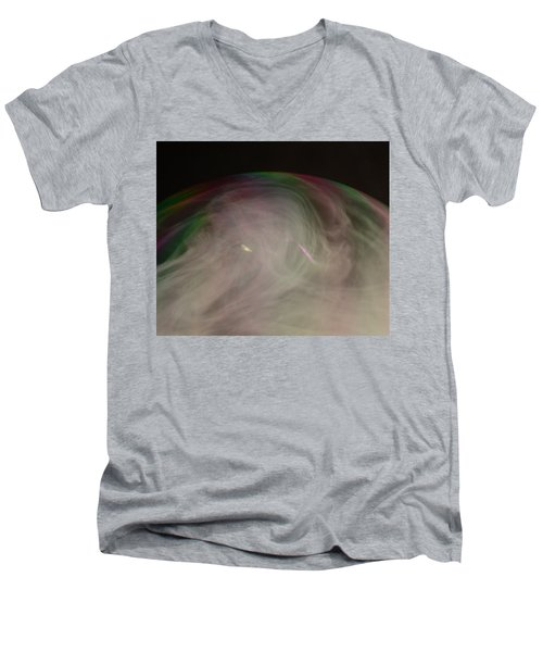 Smoke Bubble Men's V-Neck T-Shirt by Cathie Douglas
