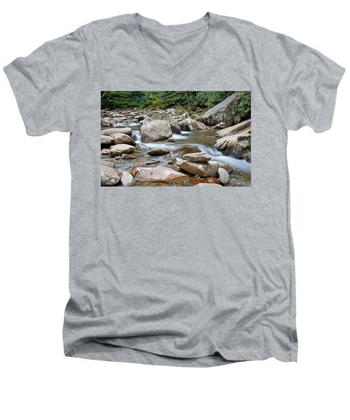 Smoky Mountain Streams Men's V-Neck T-Shirt