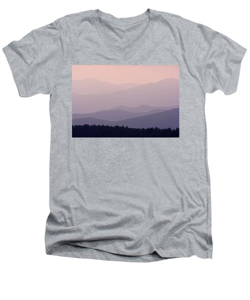 Smoky Mountain Sunset Men's V-Neck T-Shirt