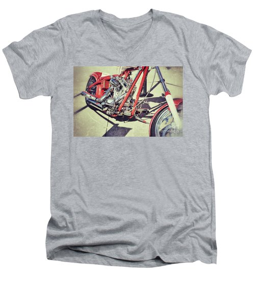 Snap On Men's V-Neck T-Shirt