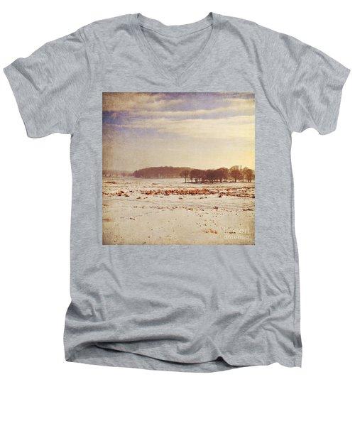 Snowy Landscape Men's V-Neck T-Shirt by Lyn Randle