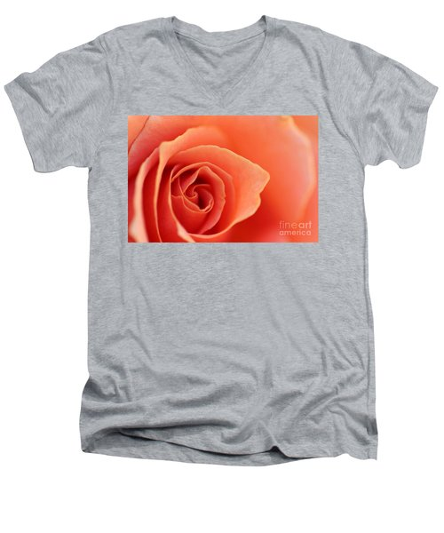 Soft Rose Petals Men's V-Neck T-Shirt