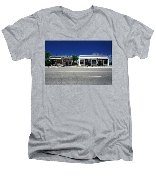 Men's V-Neck T-Shirt featuring the photograph Somewhere On Hwy 285 Number Two by Lon Casler Bixby