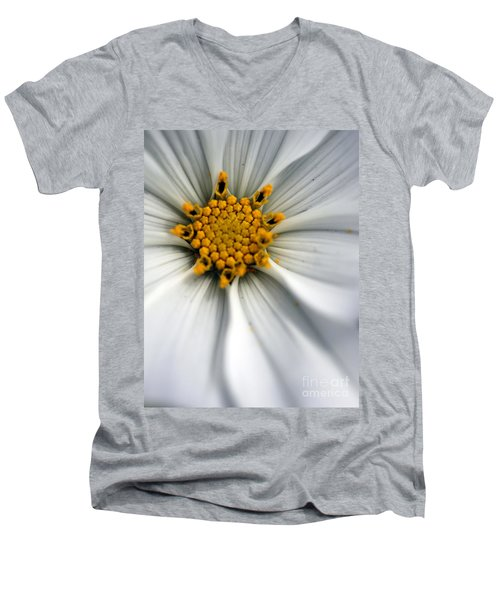 Men's V-Neck T-Shirt featuring the photograph Sonata Cosmos White by Henrik Lehnerer
