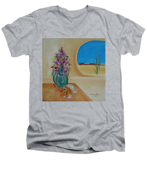 Southwestern 3 Men's V-Neck T-Shirt by Judith Rhue