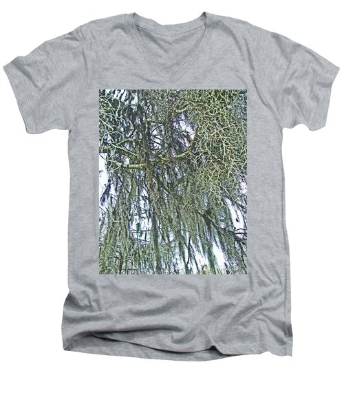 Men's V-Neck T-Shirt featuring the photograph Spanish Moss by Lizi Beard-Ward