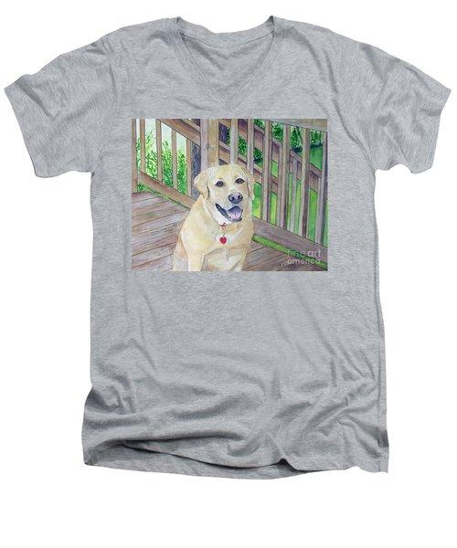 Spencer On Porch Men's V-Neck T-Shirt