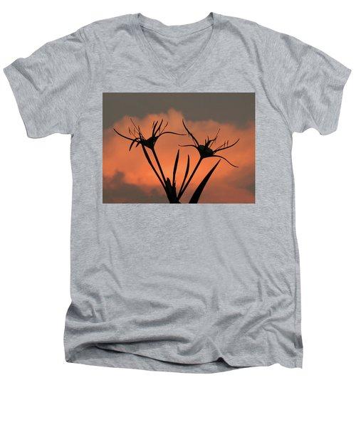 Spider Lilies At Sunset Men's V-Neck T-Shirt