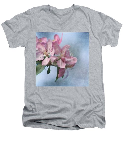 Spring Blossoms For The Cure Men's V-Neck T-Shirt