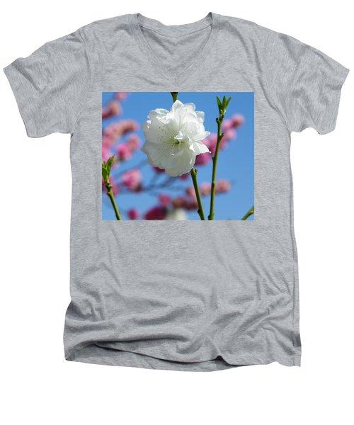Spring Men's V-Neck T-Shirt by Sandra Lira