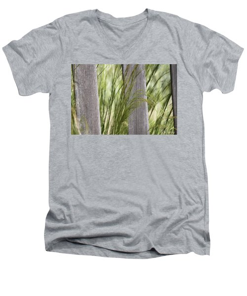 Men's V-Neck T-Shirt featuring the photograph Spring Time In The Meadow by Amy Gallagher