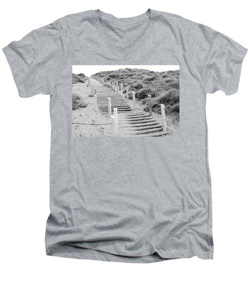 Stairs At Baker Beach Men's V-Neck T-Shirt