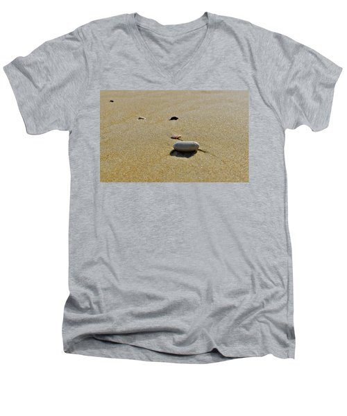 Stones In The Sand Men's V-Neck T-Shirt