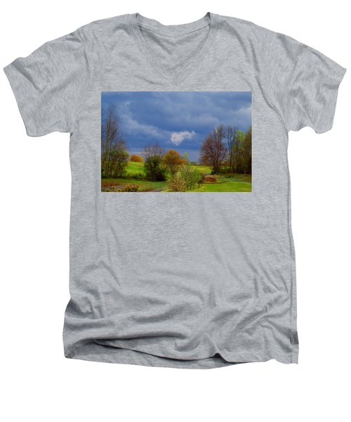 Men's V-Neck T-Shirt featuring the photograph Storm Cell by Kathryn Meyer