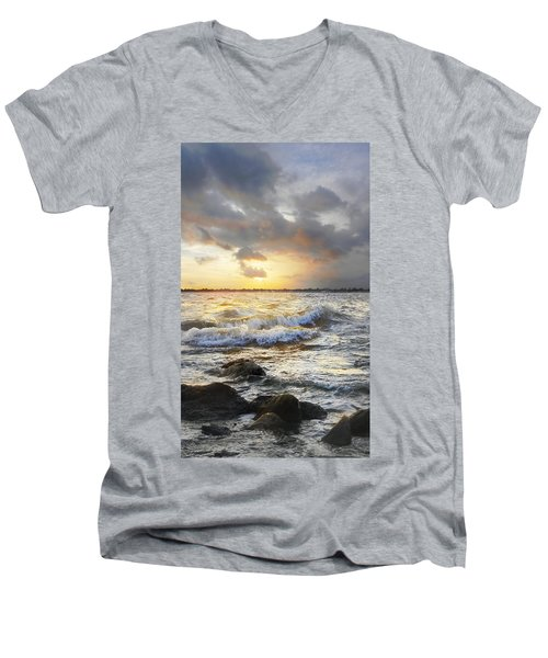 Storm Waves Men's V-Neck T-Shirt