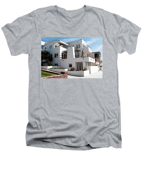 Strand Architecture Manhattan Beach Men's V-Neck T-Shirt