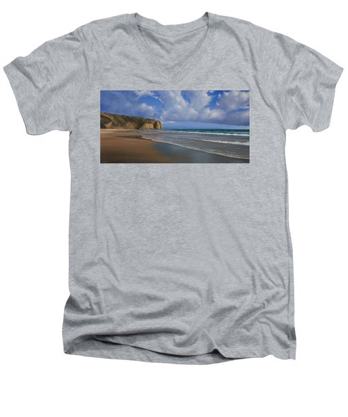 Strands Beach Dana Point Painting Men's V-Neck T-Shirt