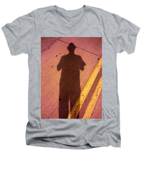 Street Shadows 001 Men's V-Neck T-Shirt by Lon Casler Bixby