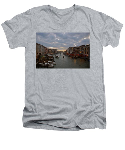 Sun Sets Over Venice Men's V-Neck T-Shirt