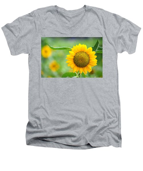 Men's V-Neck T-Shirt featuring the photograph Sunflower by Yew Kwang