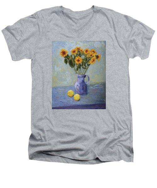 Sunflowers And Lemons Men's V-Neck T-Shirt