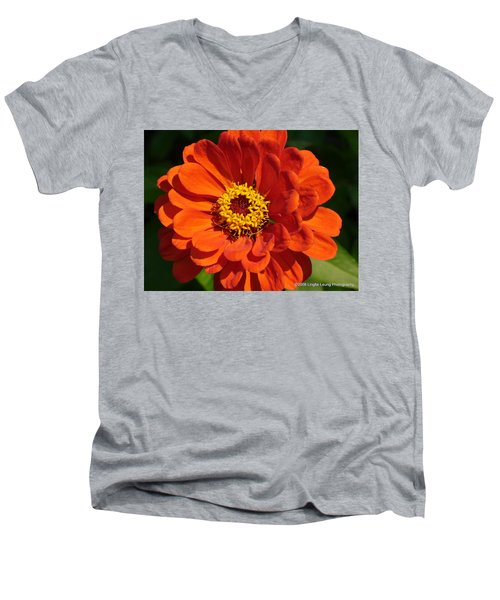 Men's V-Neck T-Shirt featuring the photograph Sunny Delight by Lingfai Leung