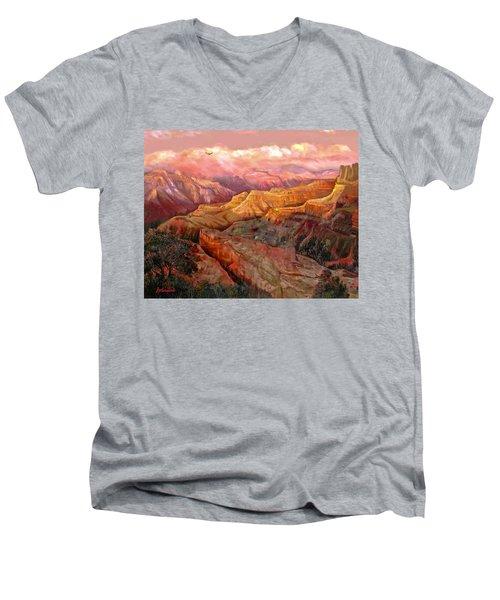 Sunset Grand Canyon Men's V-Neck T-Shirt