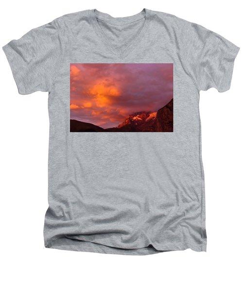 Sunset Murren Switzerland Men's V-Neck T-Shirt