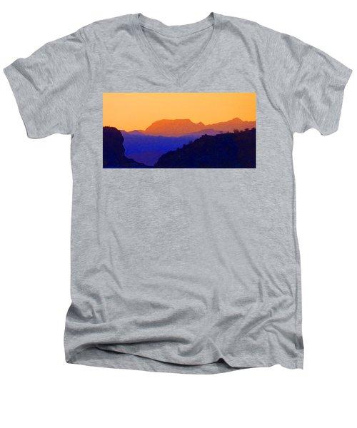 Sunset Over The Sierra Gigantes Men's V-Neck T-Shirt
