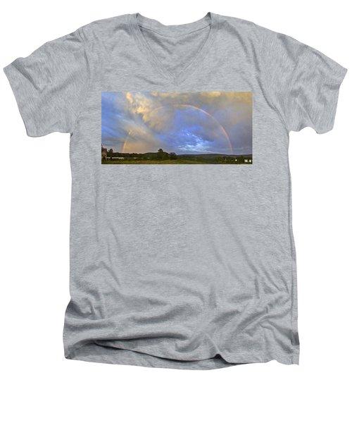 Sunset Rainbow Men's V-Neck T-Shirt