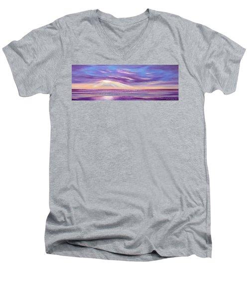 Sunset Spectacular - Panoramic Sunset Men's V-Neck T-Shirt