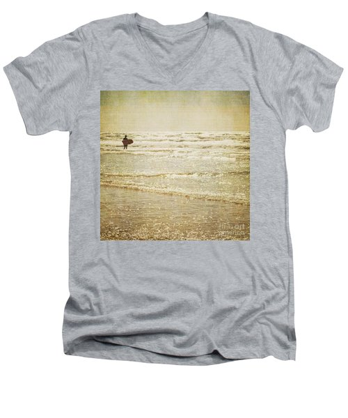 Surf The Sea And Sparkle Men's V-Neck T-Shirt by Lyn Randle