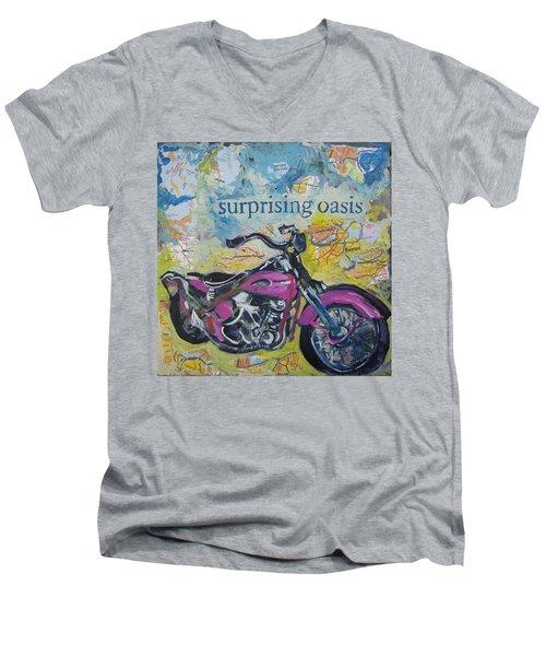 Surprising Oasis Men's V-Neck T-Shirt
