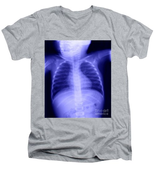 Swallowed Nail Men's V-Neck T-Shirt by Ted Kinsman