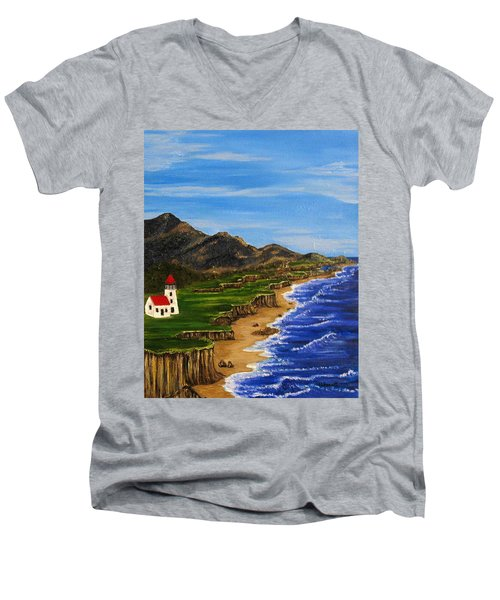 Sylvia's Seascape Men's V-Neck T-Shirt