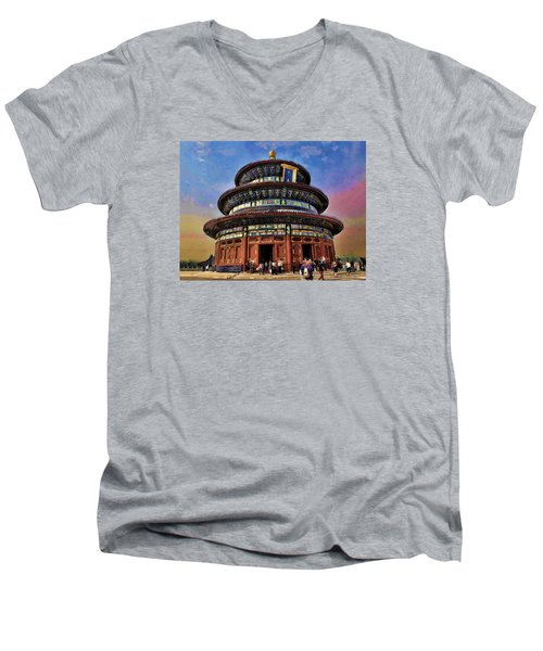 Temple Of Heaven - Beijing China Men's V-Neck T-Shirt