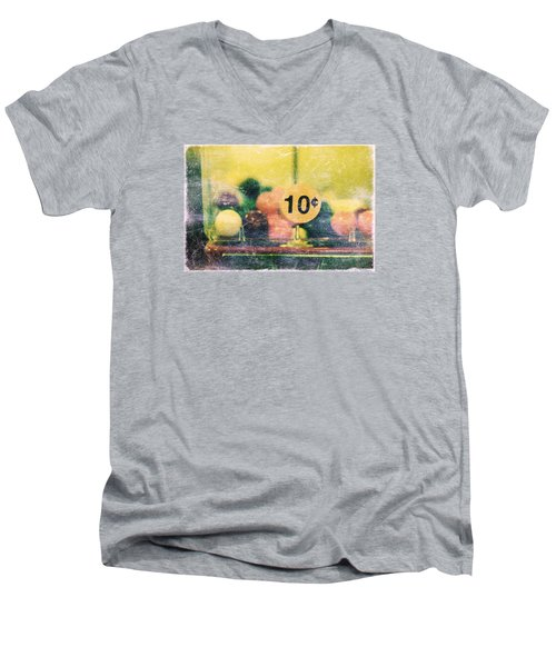 Ten Cent Candy Men's V-Neck T-Shirt by Toni Hopper