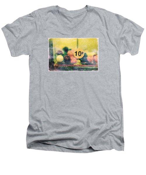 Men's V-Neck T-Shirt featuring the photograph Ten Cent Candy by Toni Hopper