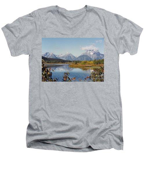 Tetons Reflection Men's V-Neck T-Shirt