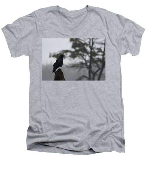 Men's V-Neck T-Shirt featuring the photograph The Bachelor by Cathie Douglas