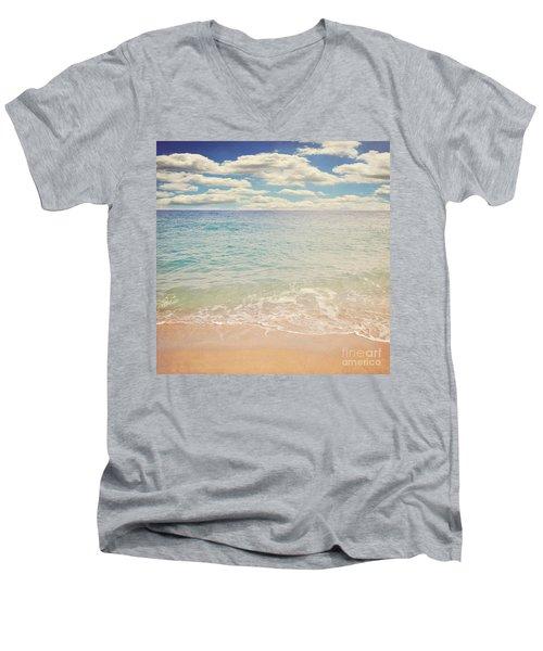 The Beach Men's V-Neck T-Shirt by Lyn Randle